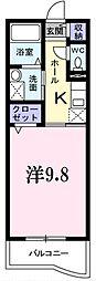 埼玉県越谷市袋山の賃貸マンションの間取り