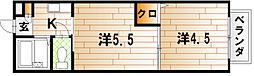 MOON赤坂 B棟[2階]の間取り