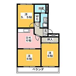 L・Louise松坂[3階]の間取り