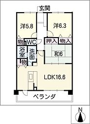 プレシアスコートJ 205号[2階]の間取り