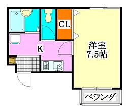 ソリッドリファイン津田沼[305号室]の間取り