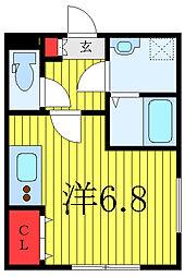 JR京浜東北・根岸線 赤羽駅 徒歩10分の賃貸マンション 4階ワンルームの間取り