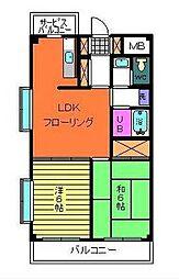 マンションコイム3[704 号室]の間取り