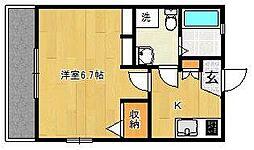 Hi・Hills津田沼[1階]の間取り