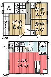 [一戸建] 千葉県千葉市若葉区貝塚町 の賃貸【/】の間取り