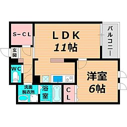 Osaka Metro長堀鶴見緑地線 横堤駅 徒歩13分の賃貸マンション 2階1LDKの間取り