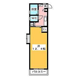 ブティア・ドゥ[2階]の間取り