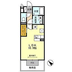 兵庫県姫路市飾磨区都倉2丁目の賃貸アパートの間取り