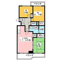 ベター・アール01[2階]の間取り