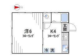 コーポ長崎[101号室]の間取り
