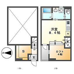 愛知県名古屋市中川区中島新町3丁目の賃貸アパートの間取り