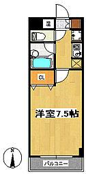 テルシノ北仙台[2階]の間取り