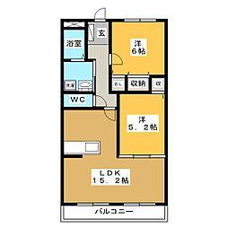 VERDE GISHOU[2階]の間取り