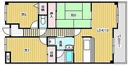 エクセルハイムII[6階]の間取り