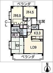 シティライフ福池[1階]の間取り