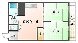 ワールドライフ 84[4階]の間取り