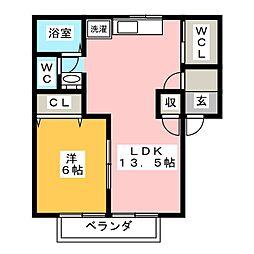 メゾンドジュネス[1階]の間取り