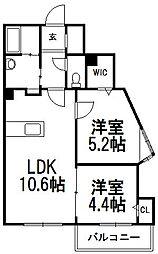 北海道札幌市南区澄川一条2丁目の賃貸マンションの間取り