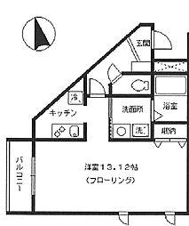 東京都板橋区赤塚7丁目の賃貸マンションの間取り