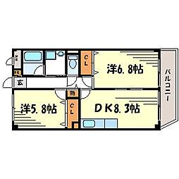 レカレクション[4階]の間取り