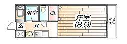 ソレアード広野[1階]の間取り