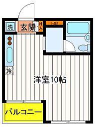 東京都立川市柴崎町1丁目の賃貸マンションの間取り