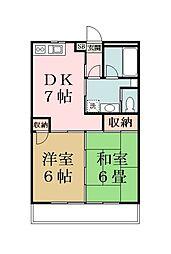 リキマンション[202号室]の間取り