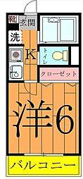 奥富マンション2[4階]の間取り
