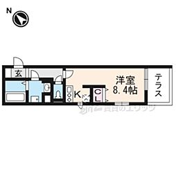 JR東海道・山陽本線 瀬田駅 徒歩14分の賃貸アパート 1階ワンルームの間取り