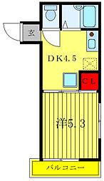 K.ラーク 2階1DKの間取り