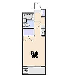 ファミール北野B[210号室]の間取り