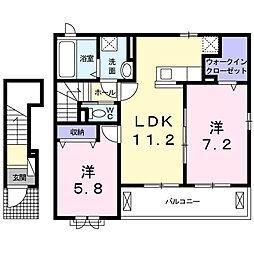 イデアルII[2階]の間取り