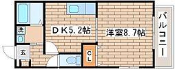 グレイス御屋敷通[201号室]の間取り