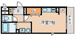 兵庫県神戸市中央区旗塚通3丁目の賃貸アパートの間取り