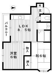 東京都練馬区平和台の賃貸マンションの間取り