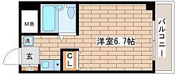 兵庫県神戸市須磨区磯馴町4丁目の賃貸マンションの間取り