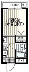 ハイツしんみせ[108号室]の間取り
