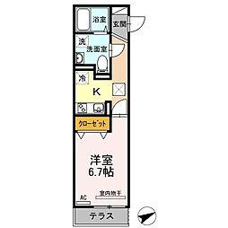 広島県福山市川口町5丁目の賃貸アパートの間取り