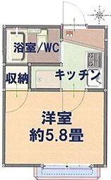 埼玉県川越市霞ケ関東1丁目の賃貸アパートの間取り