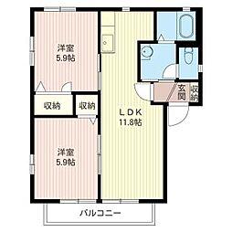 プリマベーラI[1階]の間取り