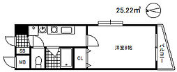 シャインビュー六甲[9階]の間取り