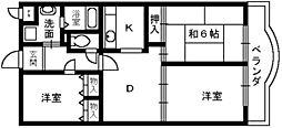 メゾンクラルテ[1階]の間取り