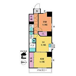 第5泰水堂ビル[6階]の間取り