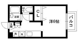 サニーテラス甲子園一番町[105号室]の間取り