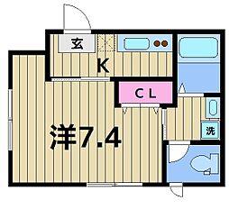 亀有5丁目計画(仮) 2階1Kの間取り