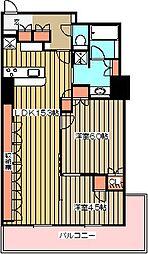 プラウドタワー武蔵小金井[19階]の間取り