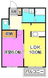 石神井公園ガーデンマンション[1階]の間取り