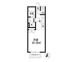 千葉県市川市真間3の賃貸アパートの間取り