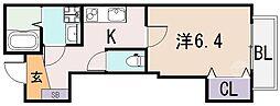 大阪府東大阪市吉松1丁目の賃貸アパートの間取り