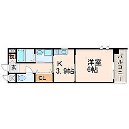 ラ・トリニテ・カルム[3階]の間取り